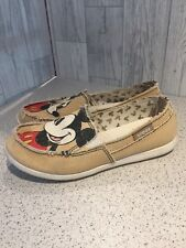 Disney Crocs Mickey Mouse Slip On Loafers, Distressed Edges Sz3/36*