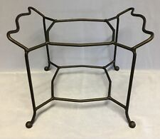 TASTE OF HOME BLACK WROUGHT IRON SQUARE DOUBLE DISH STAND - 4035 NEW IN BOX