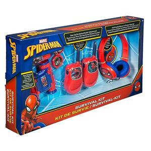 Spiderman Gift Box inc Headphones, Walkie Talkies, Binoculars, Torch & Compass
