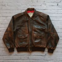 Vintage Gap Great American Pilot B-17 Leather Flight Jacket Flying Fortress US