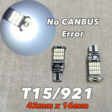 Reverse Backup light T10 T15 921 168 194 175 6K White CANBUS 45 LED Bulb W1 J