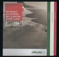 ALITALIA Airline BROCHURE cabin service no book poster timetable safety card ax