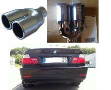EMBOUT ECHAPEMENT INOX DOUBLE SORTIE BMW SERIE 5 E60 520D 525D 530D