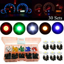 30 Set 12V Car Dash Light T5 Panel Instrument Cluster Plug Mix LED Lights Bulb