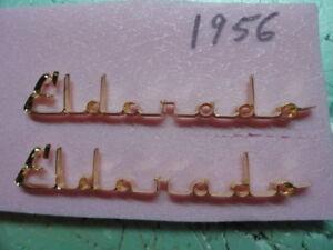 CADILLAC 1956 ELDORADO 18K GOLD SCRIPT PR  REAL NICE