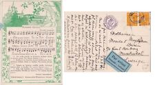Finland  Air .Mail 1944 Song Card from Helsinki  to Sweden censored