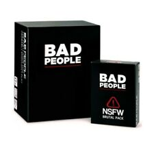 Big Sale! Bad People Card Game Basic+Nsfw Brutal Pack Party Family Games