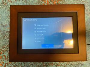 """SimplySmart Home 10.1"""" FHD PhotoShare Friends  Family Smart Frame, Dark Espresso"""