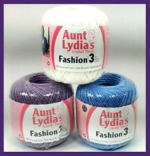 Aunt Lydia/'s Fashion Crochet Thread Size 3-Warm Blue