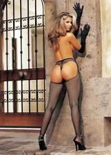 Sexy Fishnet Open Front Suspender Pantyhose Hosiery Lingerie Adult Women