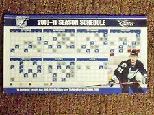 2010-11 Tampa Bay Lightning (NHL) Steven Stamkos Bud Light magnet schedule