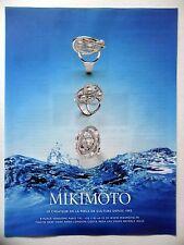 PUBLICITE-ADVERTISING :  MIKIMOTO Perle de Culture  2014 Bagues,Bijoux