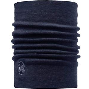 Buff Unisex Heavyweight Merino Wool Warm Winter Neckwarmer Tubular - Solid Denim