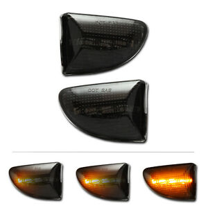 SCHWARZE dynamische LED Seitenblinker Smart Fortwo W451 A451 C451 Cabrio Coupe
