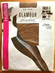 Vintage - Hudson Glamour Glanzstrumpfhose With Lycra Size _ 12-14, Pearl