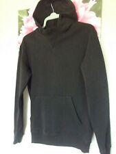 mans boys black hoodie size xs