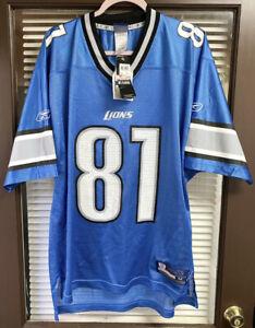 Vintage RARE 2001 Detroit Lions Calvin Johnson #81 NFL Reebok Jersey NWT Size 52