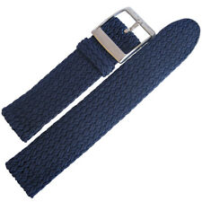 20mm EULIT Palma Pacific Navy Blue Woven Perlon Made in Germany Watch Band Strap