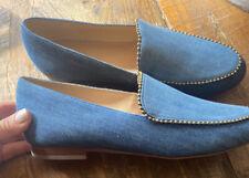 COACH Harper Denim Beadchain Loafers Size 8 . NIB
