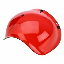Biltwell Motorcycle Helmet Old School 3 Stud Red Bubble Shield for open face