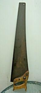 Vintage/Antique wooden handled 26inch EDSBYN Bushman handsaw in good condition