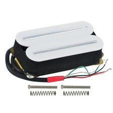 New Dual Hot Rails Electric Guitar Humbucker Pickup Double Coil White Color