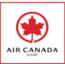 Air Canada Coupon / Discount Code,15% off Base Fare Voucher for up to Two