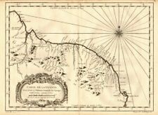 'Carte de la Guyane'. Guyana, Suriname & French Guiana. BELLIN 1758 old map
