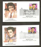 US Scott # 2721 Elvis Presley FDC. 5 Covers Set,  Fleetwood Cachet