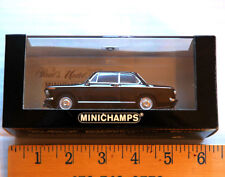 Minichamps BMW 1600 Die Cast Model Car 1:43 Black Schwartz 1966
