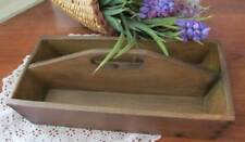 Utensil Box 12x5x4 Old Fashioned Cutlery Holder Vintage Reproduction