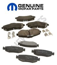 For Dodge Nitro Jeep Wrangler Set of Front & Rear Ceramic Disc Brake Pads Mopar