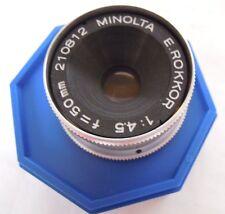 MINOLTA 50MM F4.5 ROKKOR ENLARGER LENS
