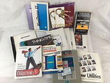 Livre / Manuel / Lot de manuels vintage pour logiciels Apple Macintosh