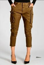 DSQUARED2 Stretch Cotton Cargo Pants  Chinos Size 38 Khaki Brown RRP €600 Sexy