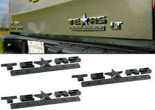 3 Black Texas Edition NamePlate for Fender Hood Bumper Door Trunk Tailgate Panel