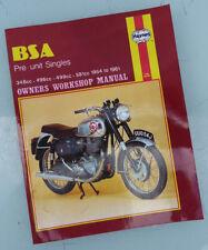 Bsa Motorcycle Single Manual Book Goldstar M20 M33 B31 B32 B33 Dbd All 1954-1961
