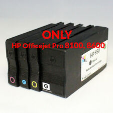 4 PK HP 950 951 OEM Ink cartridge Refurbished-ONLY Officejet Pro 8100, 8600