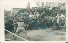 WW2 British Prisoner's Of War POW's Boxing match Action Stalag XXI D Poland