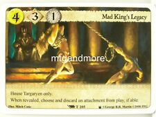 A game of thrones LCG - 1x Mad King 's Legacy #t205 - Poniente draft Pack