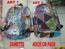 BORSA ETNICA ZAINO ART 2 NEPAL 48x35 cm  BAG  TESSUTO NEPALESE  ORIGINALE