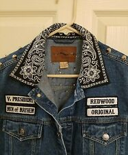 Anti-nowhere League punk denim levi stud studded vest metal mayhem exploited