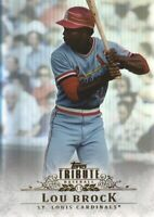 2013 Topps Tribute Baseball #84 Lou Brock St. Louis Cardinals