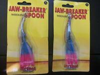 2 - Northland Jawbreaker Weedless Spoon, Rainbow, 1/2 oz., JBS-13