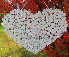 Personalised Heart Shaped wedding guestbook hanging heart guest book alternative