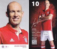 Arjen Robben + FC Bayern München + Saison 2016/2017 + Autogrammkarte + AK64 +
