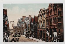 Chester,U.K.Eastgate Street,Trolley Cars,Horse Drawn Wagons,Chesire,c.1909