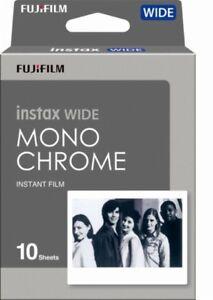 Fuji Fujifilm instax WIDE Monochrome Black & White Instant Photo Film 10 Sheets