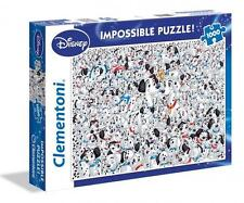 CLEMENTONI DISNEY JIGSAW PUZZLE 101 DALMATIONS IMPOSSIBLE PUZZLE! 1000 PC #39358