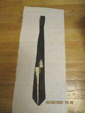 Vintage Esquire Cravat Art Deco Style Design Brown/White Geometric Silk Tie